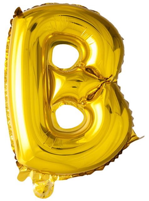 Globo foil letra B dorado (102 cm)
