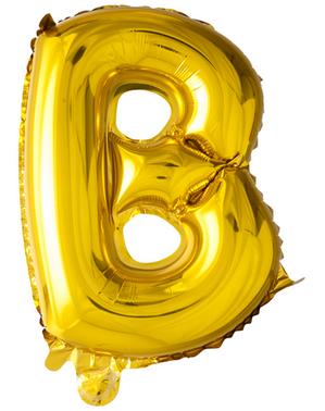 Kultainen kirjain B ilmapallo (102 cm)