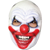 Máscara media cara Clown Halloween