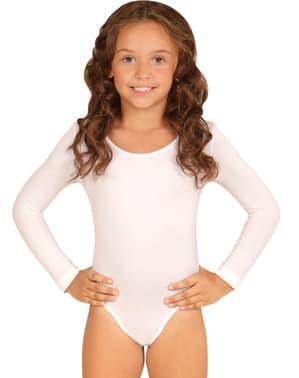 Dívčí přiléhavý oblek bílý