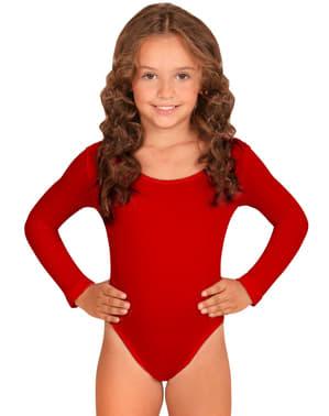 Dívčí přiléhavý oblek červený