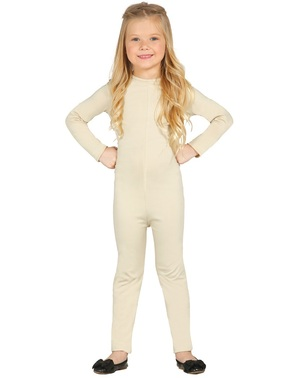 Camicia beige per bambina