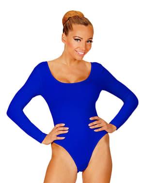 Dámský přiléhavý oblek modrý