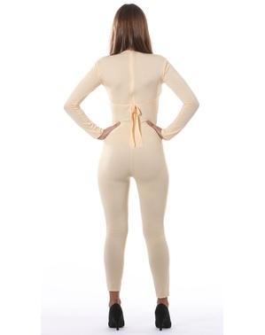 Beige maillot voor vrouw