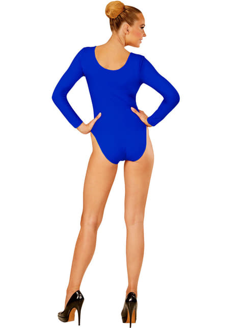 Body azul para mulher