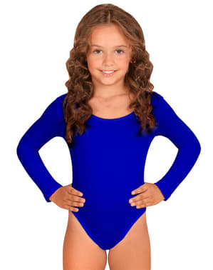 Body blu per bambina