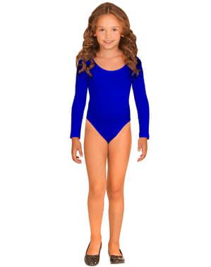 Dívčí přiléhavý oblek modrý
