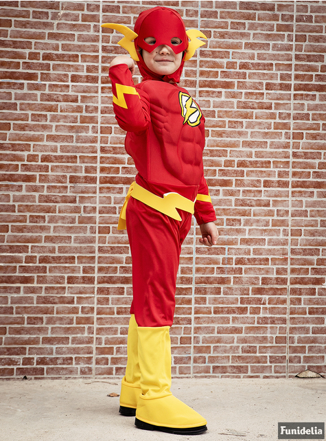 Muscular Flash Kids Costume