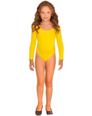 Dívčí přiléhavý oblek žlutý