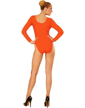 Body cor de laranja para mulher