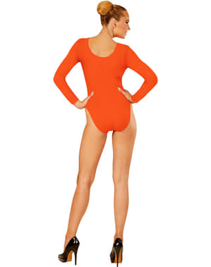 Dámský přiléhavý oblek oranžový