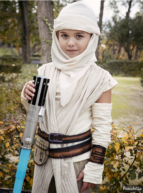 Rey Star Wars Episode 7 deluxe Kostuum voor meisjes