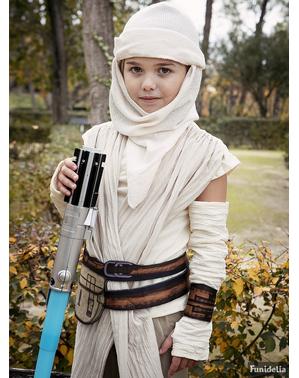 Fato de Rey Star Wars Episódio VII deluxe para menina