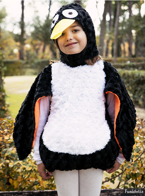 Fato de pinguim adorável de peluche infantil