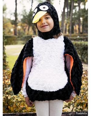 Pingvinkostume i plys til børn