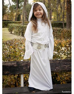 Fato de Princesa Leia deluxe para menina