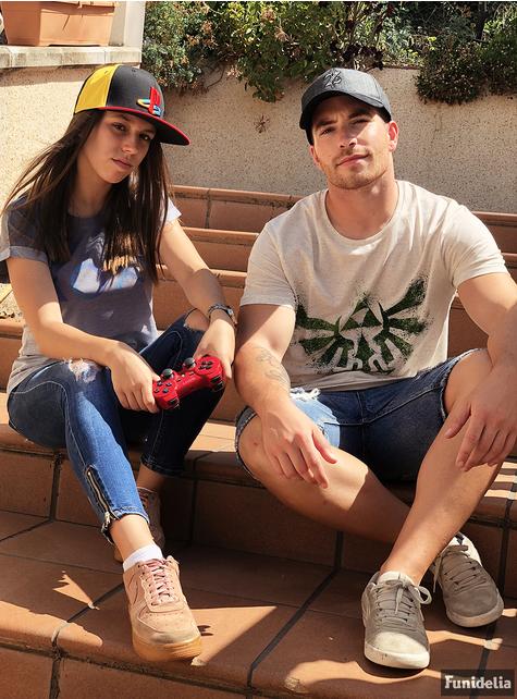Grijs PlayStation knoppen t-shirt voor vrouw