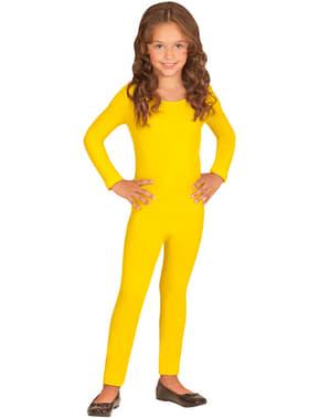 Macacão amarelo para menina