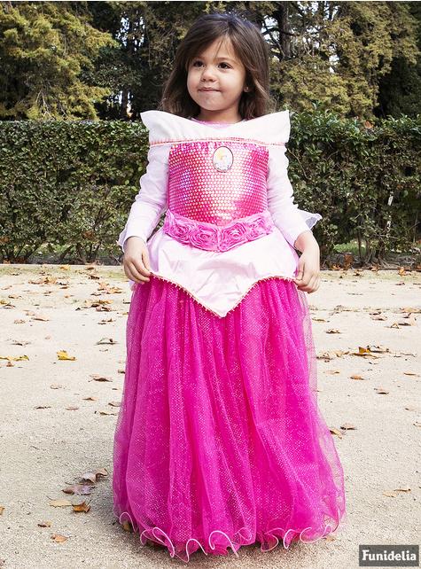 Disfraz de Aurora La Bella Durmiente premium para niña