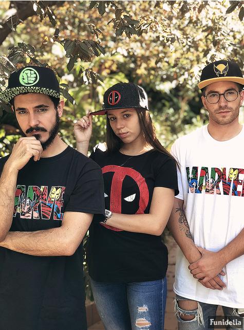 T-shirt de Marvel Comics Logo Personagens