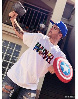 Tricou Marvel logo colorat pentru bărbat