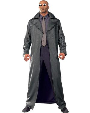 Fato de Morfeo deluxe Matrix para homem