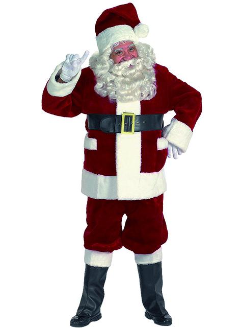 Disfraz de Papá Noel prestige para hombre