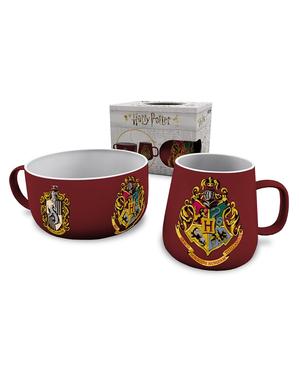 Набір тарілка та кружка з гербом Хогвартса - Гаррі Поттер