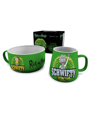 Set Mug & Mangkok Rick & Morty