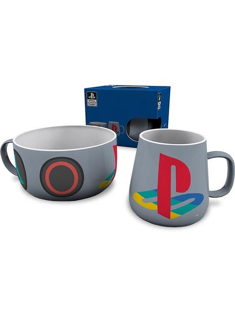 Taza y bol Playstation
