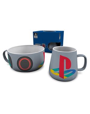 Playstation Krus og Skål Sæt