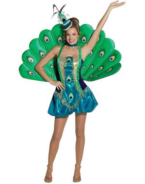 Disfraz de pavo real para mujer