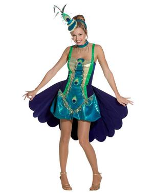 Costume pavone da donna