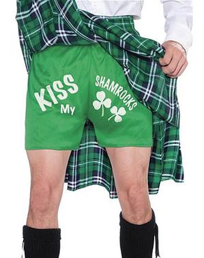 Schots kostuum met kiss my shamrocks