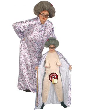 Costume da nonna esibizionista per uomo
