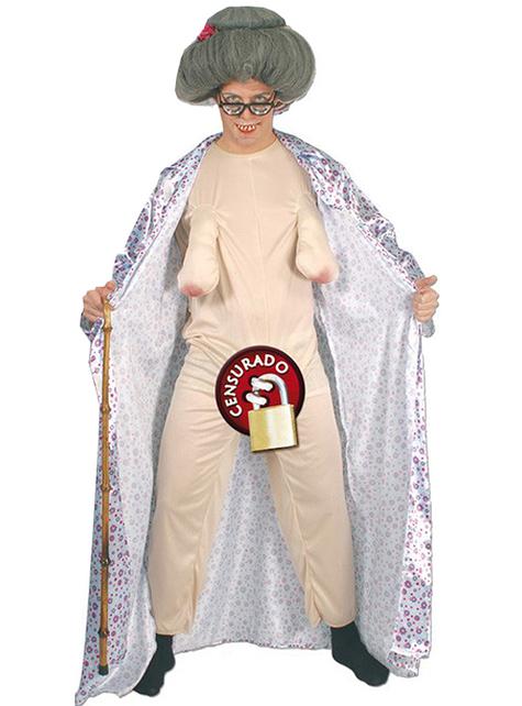 Costume da nonnina sexy per uomo