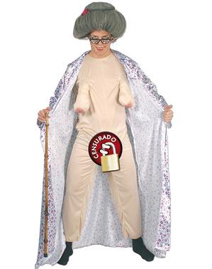 Exhibitionist Bedstemor Kostume til Mænd