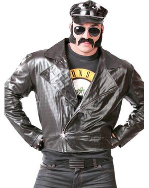 Blusão de motoqueiro rockeiro