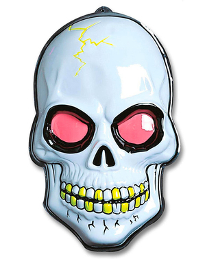 Tête de mort 3D fluo