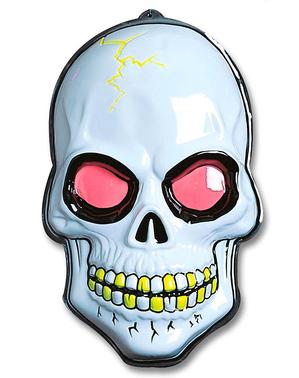 Totenkopf in 3D fluoreszierend