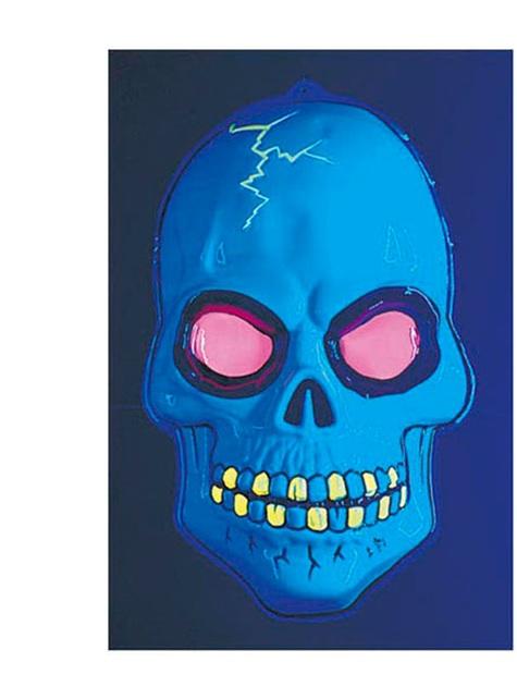 Calavera 3D fluorescente