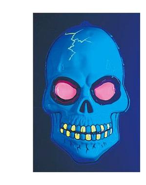 Självlysande dödskalle i 3D
