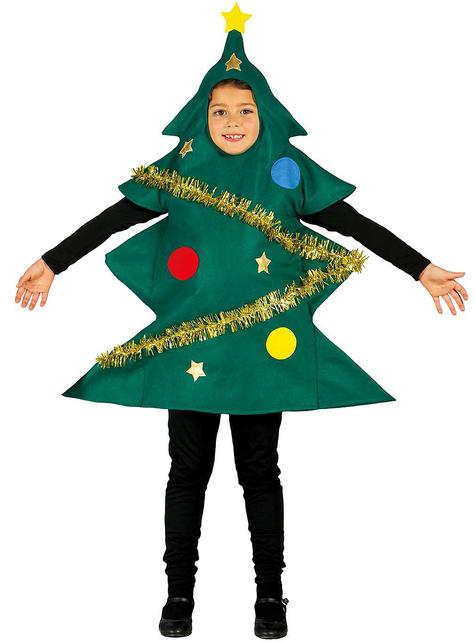 Disfraz de árbol de Navidad adornado para niño