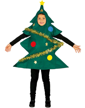 Decorated Christmas tree costume for Kids