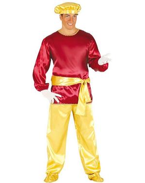 Pagen Kostüm rot für Erwachsene