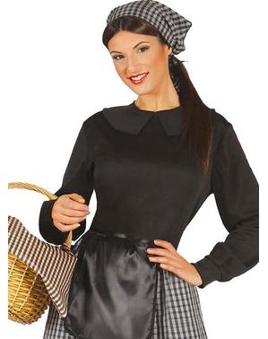 Kastanjeverkoopster kostuum voor vrouw