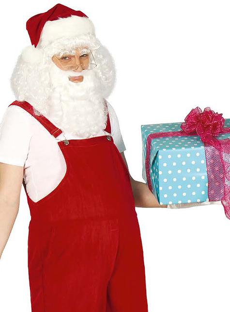 Disfraz de Papá Noel hogareño para hombre.