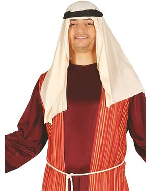 Fato de São José vermelho para homem