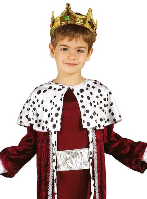 Fato de rei mago Gaspar para menino