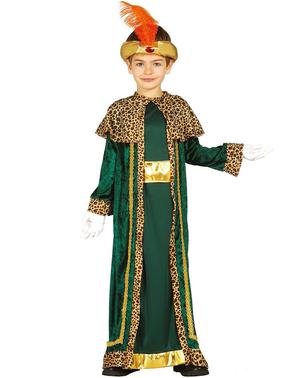Fato de rei mago Baltazar para menino